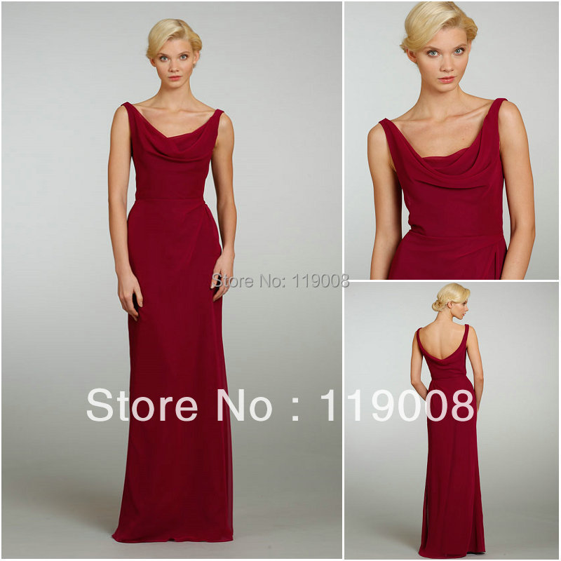 Cheap purple bridesmaid dress long chiffon dresses for for Cheap wedding guest dresses