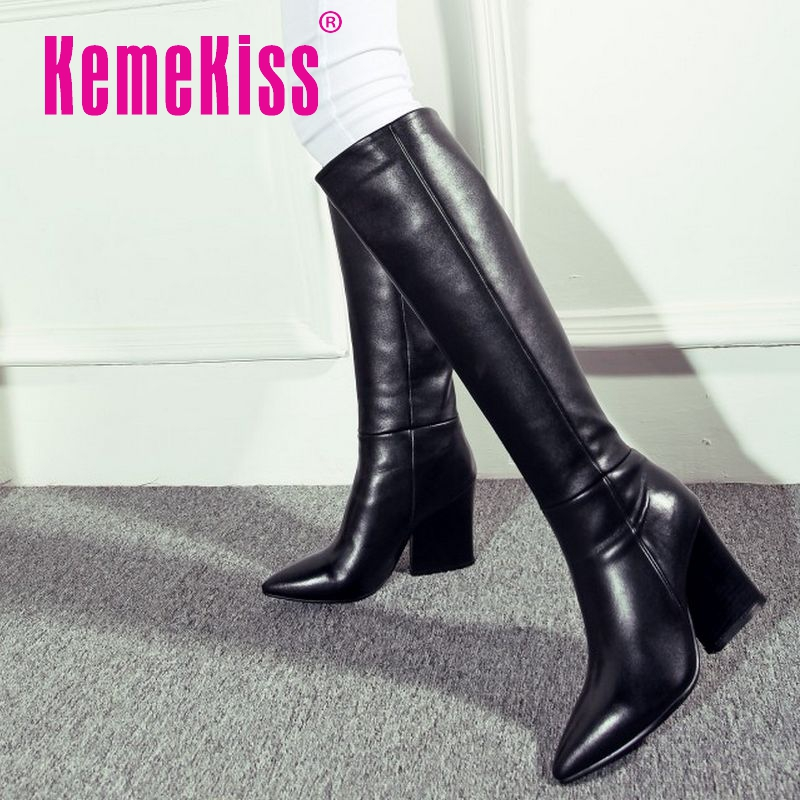 women real genuine leather high heel over knee boots knight winter warm long boot heels brand footwear shoes R8008 size 34-39<br><br>Aliexpress