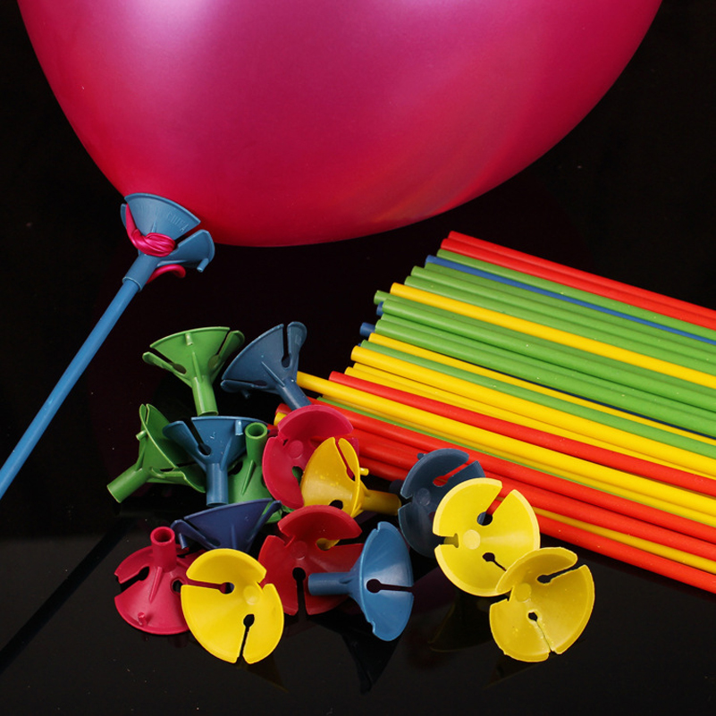 50Pcs 27cm Balloon Balloons Sticks Accessories PVC Rods Wedding Birthday Inflatable Latex Balloon Party Decoration Accessories(China (Mainland))