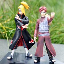 Free Shipping Anime Naruto Deidara VS Gaara PVC Action Figures Collectible Model Toys set of 2