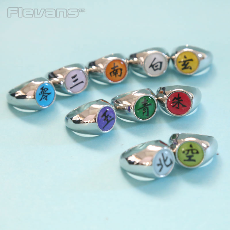 Akatsuki Rings Anime Anime Cartoon Naruto Rings