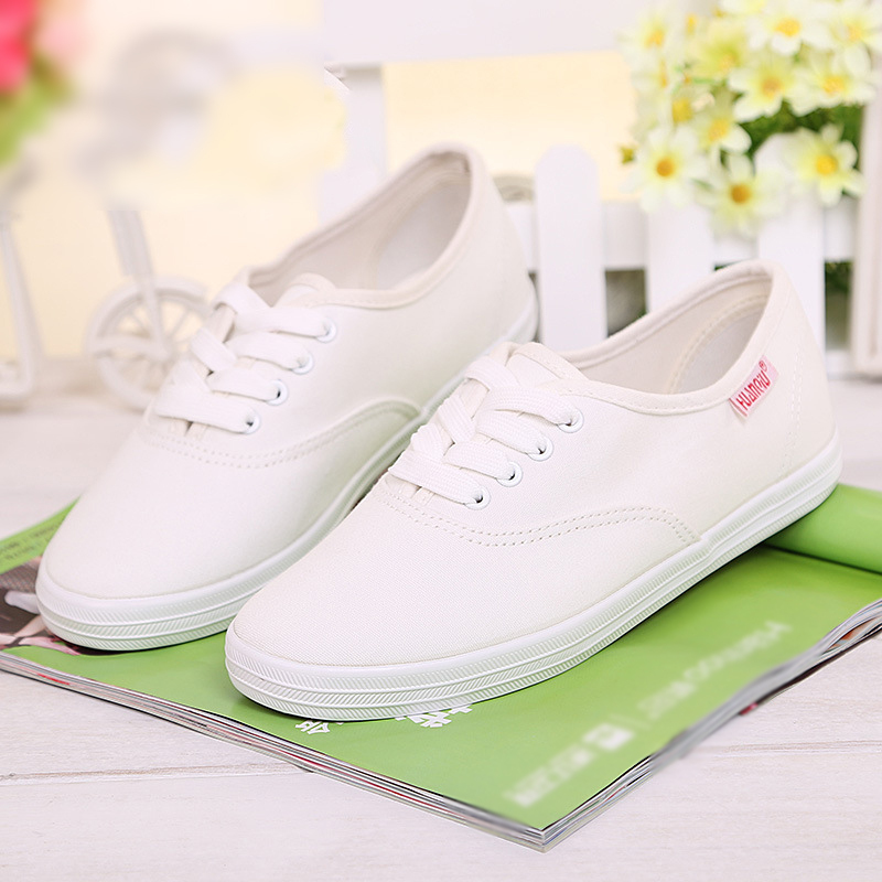 2015 new classic summer style women fashion sneakers lace up canvas flats for ladies breathable solid shoes(China (Mainland))