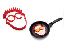 Min. order head shaped silicone egg mold omelet Creative clown head fried egg mold ring fry egg molds cooking molds(China (Mainland))