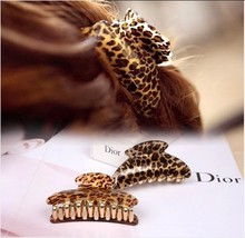 2015 Large brief acrylic hair caught leopard hairpin gripper hair claws clip 4 sizes accessories for hair women hair barrette(China (Mainland))