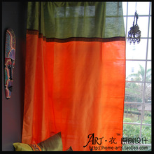 Curtain dodechedron laciness article customize orange drapes floor window piaochuang customize
