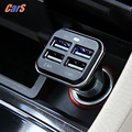 Safe and Reliable Car Charger 12V 4 USB Ports 6 8A Chargers Adapter for iPhone 6