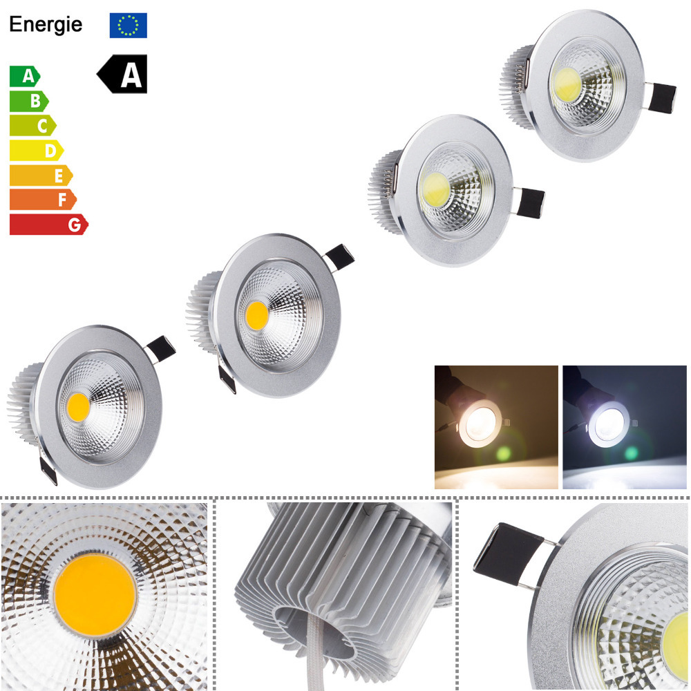 dimmable 3w 5w 7w 9w spot led cob ceiling light white warm. Black Bedroom Furniture Sets. Home Design Ideas