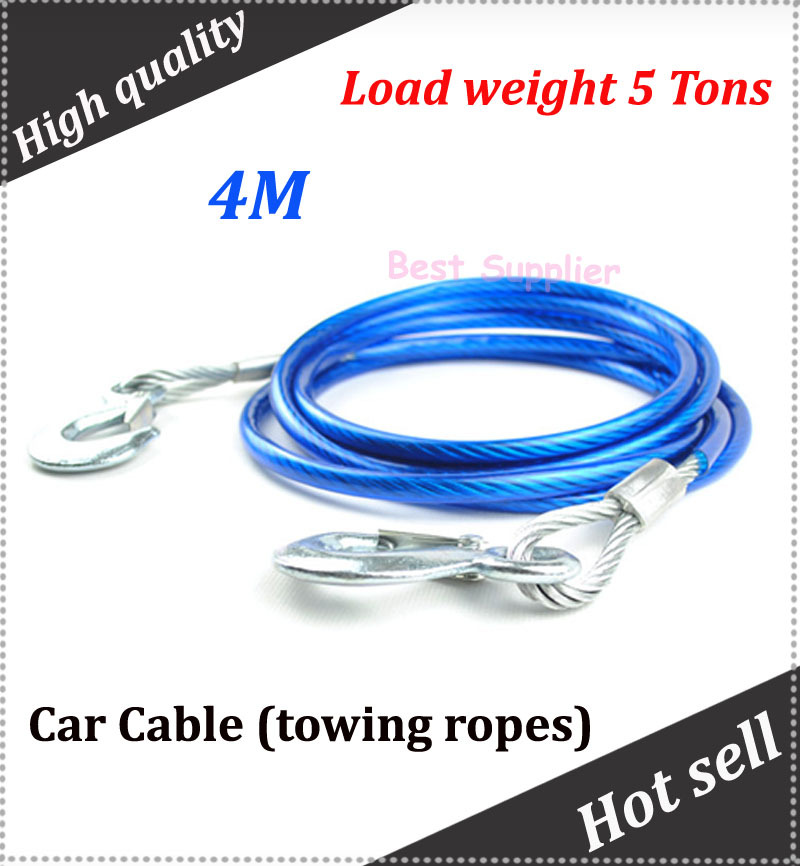 Car towing ropes 4M car cable for all car Load weight 5 Tons(China (Mainland))