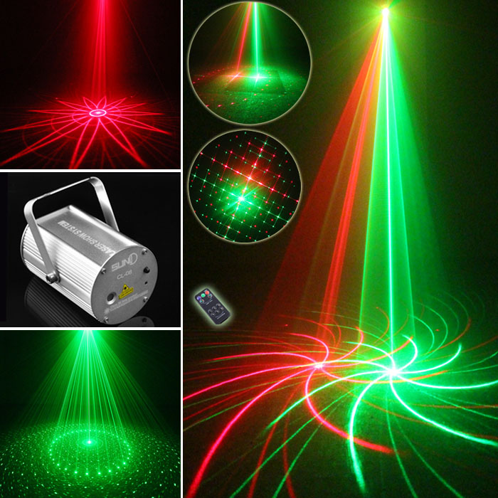 Laser Projector Red Green With IR Remote Party Lights DJ Equipment DISCO LIGHTING Music equipment<br><br>Aliexpress