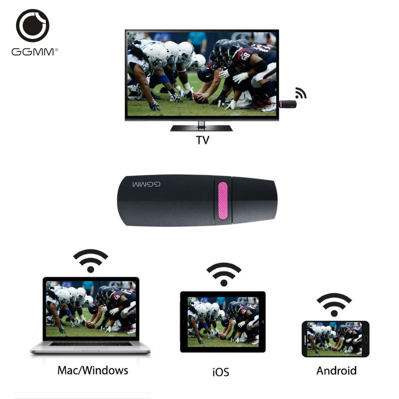 GGMM Chromecast Miracast Ezcast TV Stick Mini PC Android Chrome Cast HDMI WiFi Dongle DLNA Streaming Media Player Mirascreen(China (Mainland))