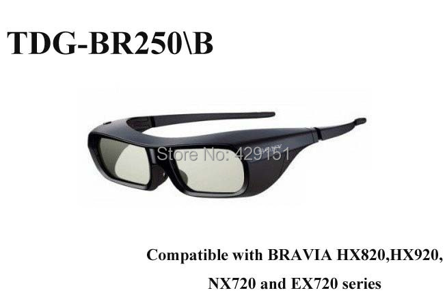 Free shipping Genuine TDG-BR250/B (TDGBR250) Black USB Chargable Active 3D Glasses For Sony TV(China (Mainland))