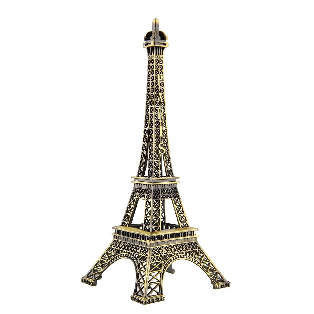 Гаджет  Bronze Tone Paris Eiffel Tower Figurine Imitation Statue Sculpture Souvenir 25 cm Free shipping None Дом и Сад