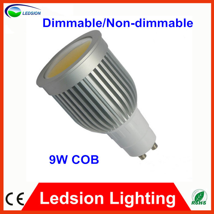 Newest Factory Direct Selling GU10 9W COB LED Spot Light Bulbs Lamp Cool White High Brightness 800Lm 110-240V Dimmable Lighting(China (Mainland))