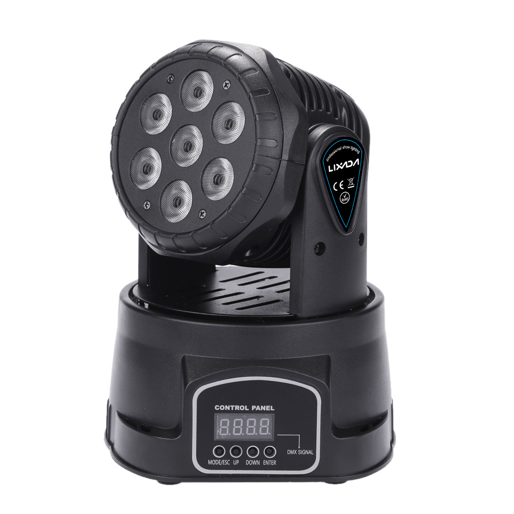 LIXADA DJ stage lighting 7LED 105W DMX512 RGBW laser show led moving head wash Stage Light Effect Lamp for Indoor Disco(China (Mainland))
