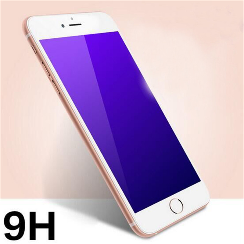 i6 6S Explosion proof Tempered Glass Layer Clear Front Screen Protector blue anti For font b