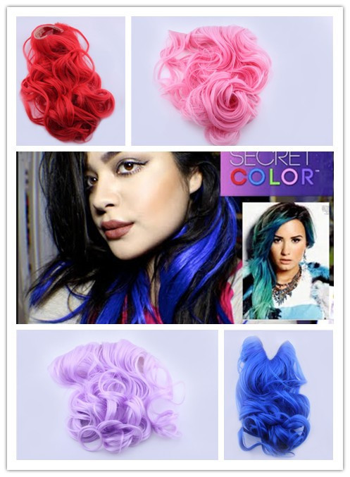 Demi Lovat Launches Secret Color Hair Extensions Headband FREE SHIPPING 4 colors available(China (Mainland))