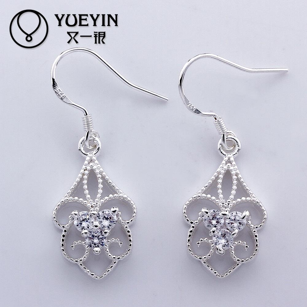 Hot sale fine Jewelry E551 New supplies Silver Plated Women Earrings fashion high quality(China (Mainland))