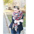 Scarf Women Plaid New Designer Scarfs Blanket Unisex Acrylic Wrap Cashmere Scarf Shawl Pashmina For Spring