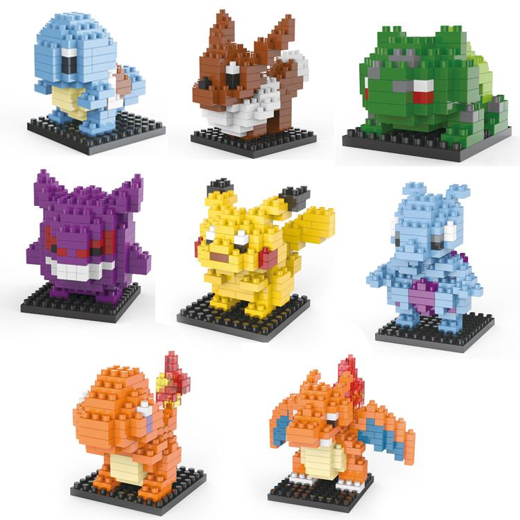 Figures Model Toys Pikachu Charmander Bulbasaur Squirtle Mewtwochild Eevee Child Christmas gift 9 font b Anime