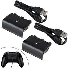 NI5L 2400mAh RechargeableReplacement BatteryPack for XBOX ONE Controller w/Cable Free Shipping(China (Mainland))