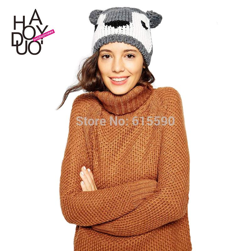 2015 Spring And Summer Small Koala Style Winter Hat Double ...