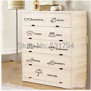 Hot dressing classification personalized furnishings drawer wardrobe wall stickers DIY logo affixed stickers are Jiezhuang(China (Mainland))