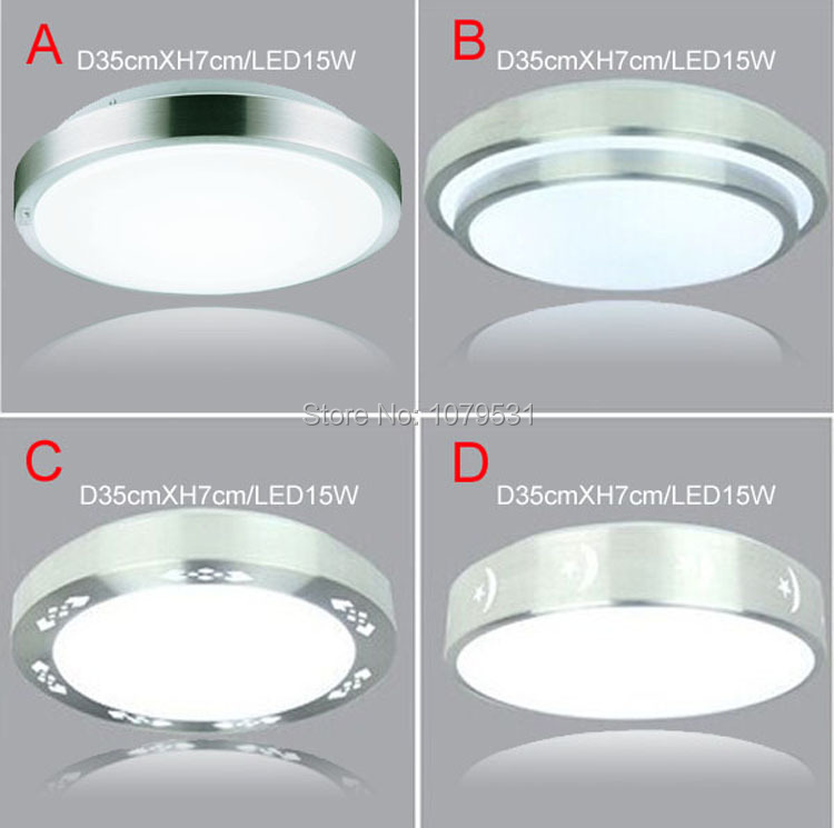 4 Types Aluminum+Acryl 15W LED Ceiling Lights Dia 350mm,AC85V~265V,Warm White/Cool White,Bedroom Kitchen Bathroom Indoor Lamps<br><br>Aliexpress