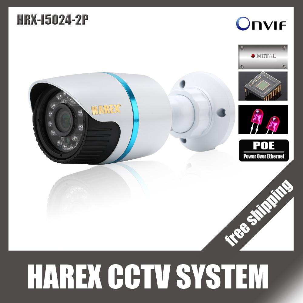 Sony IMX222 / OV2710 1080P 2.0MP ONVIF Waterproof Outdoor IR CUT Night Vision P2P Plug and Play Mini Bullet POE IP Camera(China (Mainland))