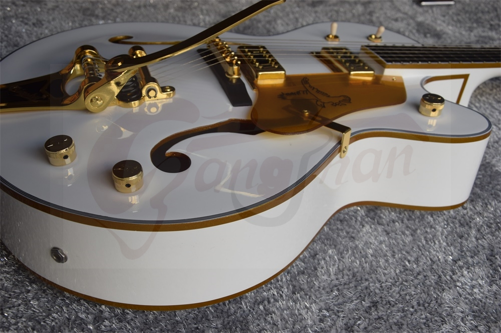 factory Custom Gretsch Guitar white Falcon 6120 Semi Hollow Body Jazz Electric Guitar With Bigsby Tremolo 14917 In Stock(China (Mainland))