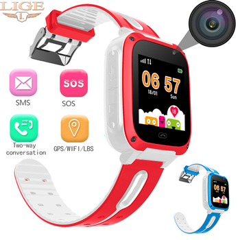 2019 Intelligent Children's Smart Watch SOS Mobile Phone Voice Chat Large Capacity Battery Sleep Monitoring SIM Smart Watches
