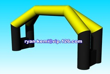 Free shipping custom 8x4m double legs inflatable arch with logos(China (Mainland))