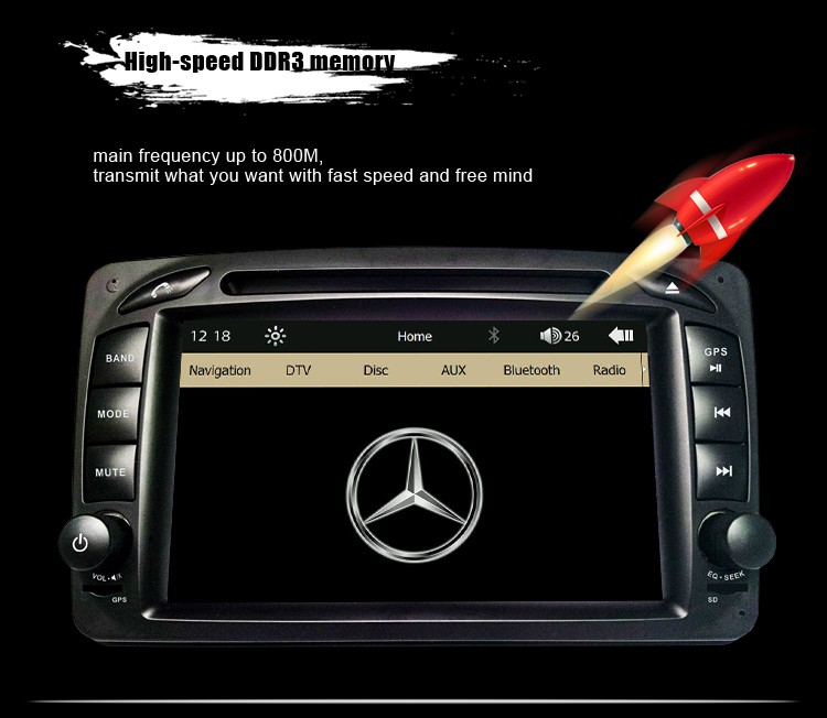 "7"" Capacitive Screen Original UI Car DVD GPS Player For Mercedes Benz W203 W208 W209 W210 W463 Vito Viano"