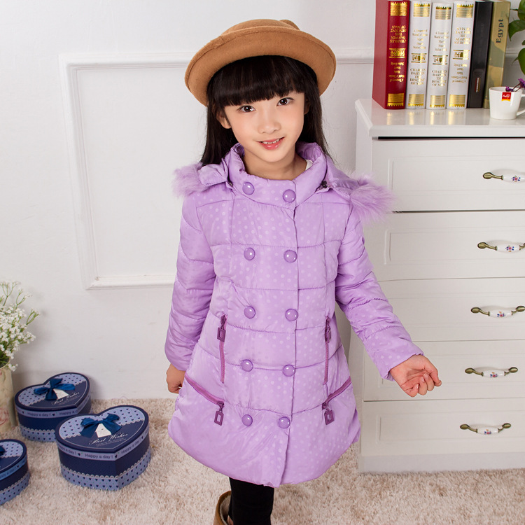 2015 Free shipping Korean children winter jacket / Hooded long sections Slim Down Girls Princess paragraph<br><br>Aliexpress
