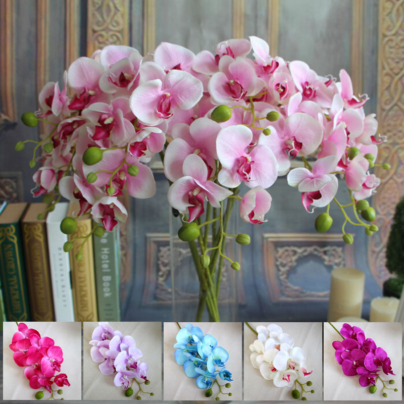 Buy Wholesale 78cm Artificial Silk Butterfly Orchids Home Wedding