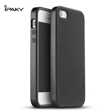 100% original ipaky brand Back Cover Silicon Neo Hybrid Case for iPhone5 for iphone 5s for iphone SE cover without tracking(China (Mainland))