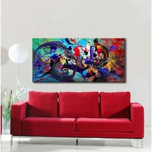 Hand-painted Modern Oil Painting Set Colorful Stylish Canvas Print Decoration for Home Living Room Bedroom Office Art Picture(China (Mainland))