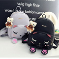 Cat Backpack Black Preppy Style School Backpacks Funny Quality Pu Leather Fashion Women Shoulder Bag Travel