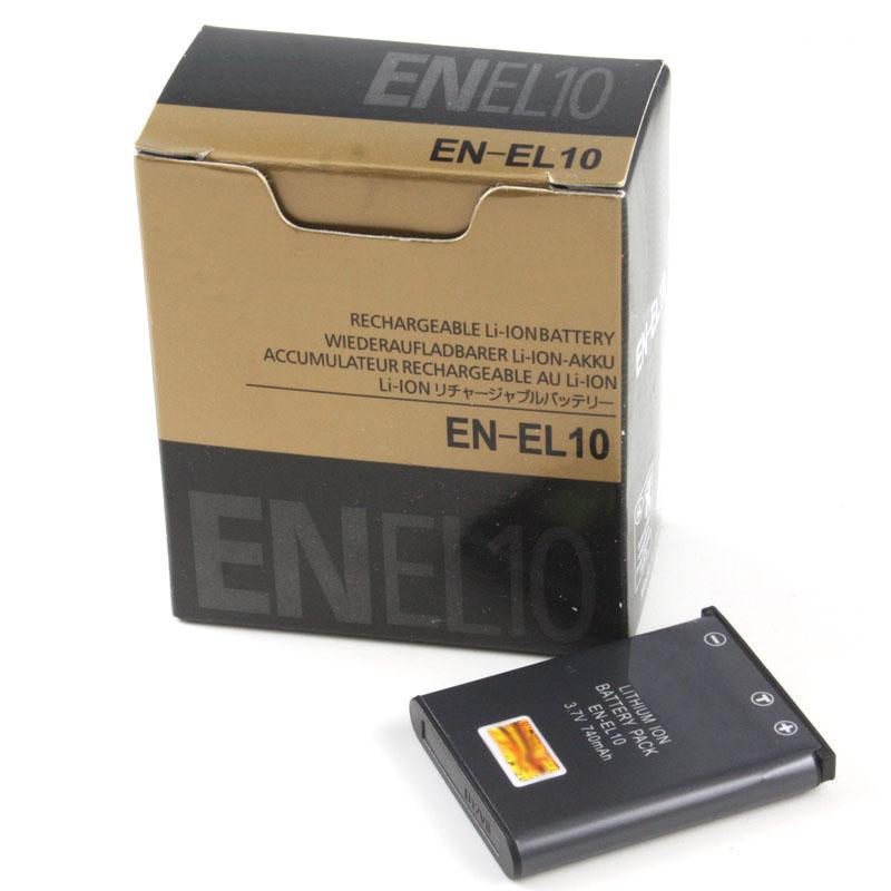 EN-EL10 Battery EN EL10 Batteries For Nikon COOLPIX S500 S510 S520 S570 S200 S230 S3000 S4000 S5100 S700 S220 S570 S600(China (Mainland))