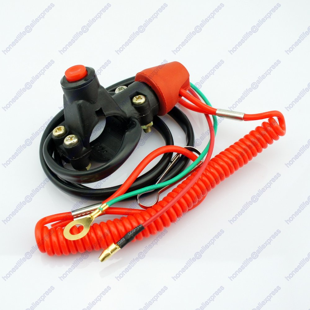 ATV Motorcycle Motorbike Normally Opened Break Tether Emergency Kill Stop Engine Switch Push Button - Honest Life store