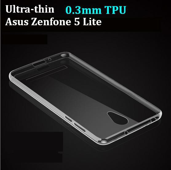 2015 gel New Ultra-thin 0.3mm Crystal Clear soft TPU Cover Case For Asus Zenfone 5 Lite A502CG Free For Sales(China (Mainland))