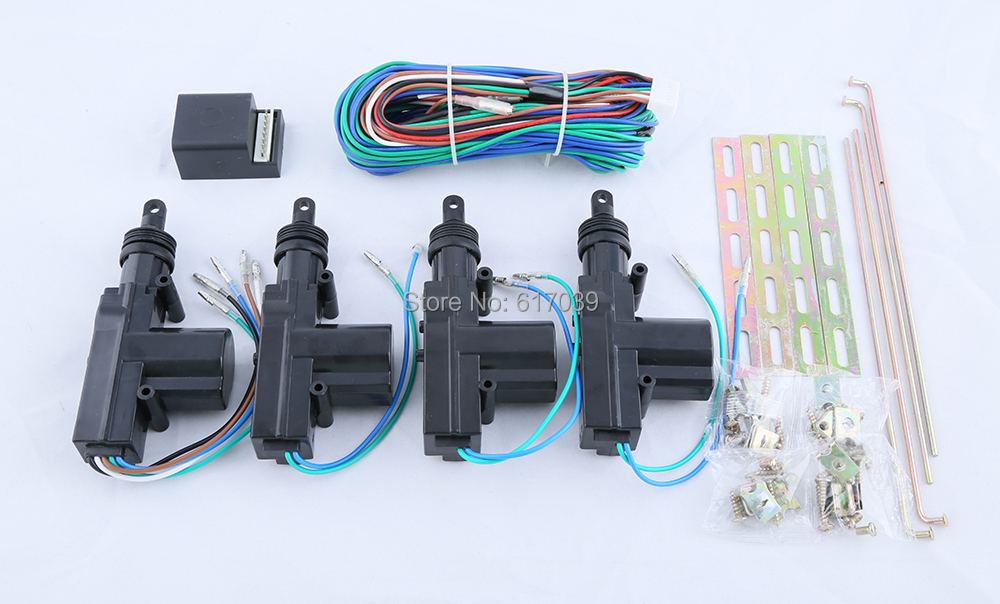 In stock! Universal quality 1 control 3 central door locking system DC12V compatible with all car alarm system(China (Mainland))