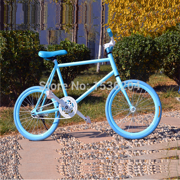 20inches New Popular Single Speed Fixed Gear Bikes Freely Vehicle Students Live Flying Bicycles Car Bike(China (Mainland))
