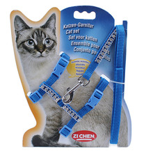 COOPET Cat Pet Harness And Leash Nylon Diamonds Products Animals Adjustable Pet Traction Harness Belt Cat Kitten Halter Collar(China (Mainland))