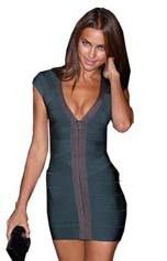 נשים סקסי שמלות מסיבת מועדון לילה שמלת נשים תחבושת שמלת טלאים מחית לראות דרך קצרה אירוע מיוחד שמלות HL7184