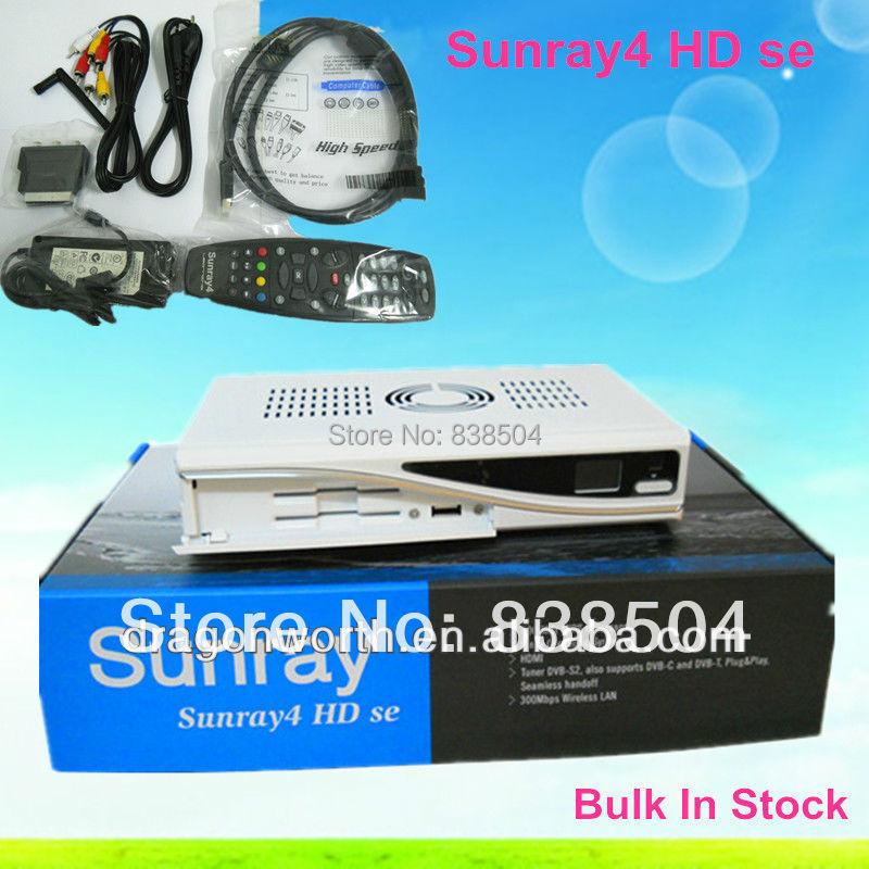 2pcs Sunray 800hd se Satellite Receiver Sunray4 dm800hd se sr4 Security SIM A8P Card Triple tuner DVB S(S2)/C/T + 300Mbps WIFI(China (Mainland))