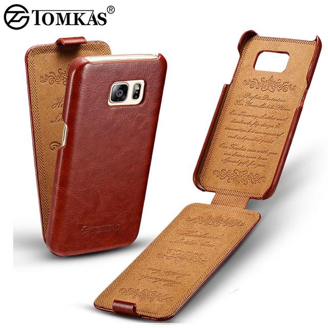 Flip Leather Case For Samsung Galaxy S7 G9300 Телефон Обложка Для Samsung Galaxy S7 Edge Люкс Ретро Coque Tomkas Марка Черный Коричневый