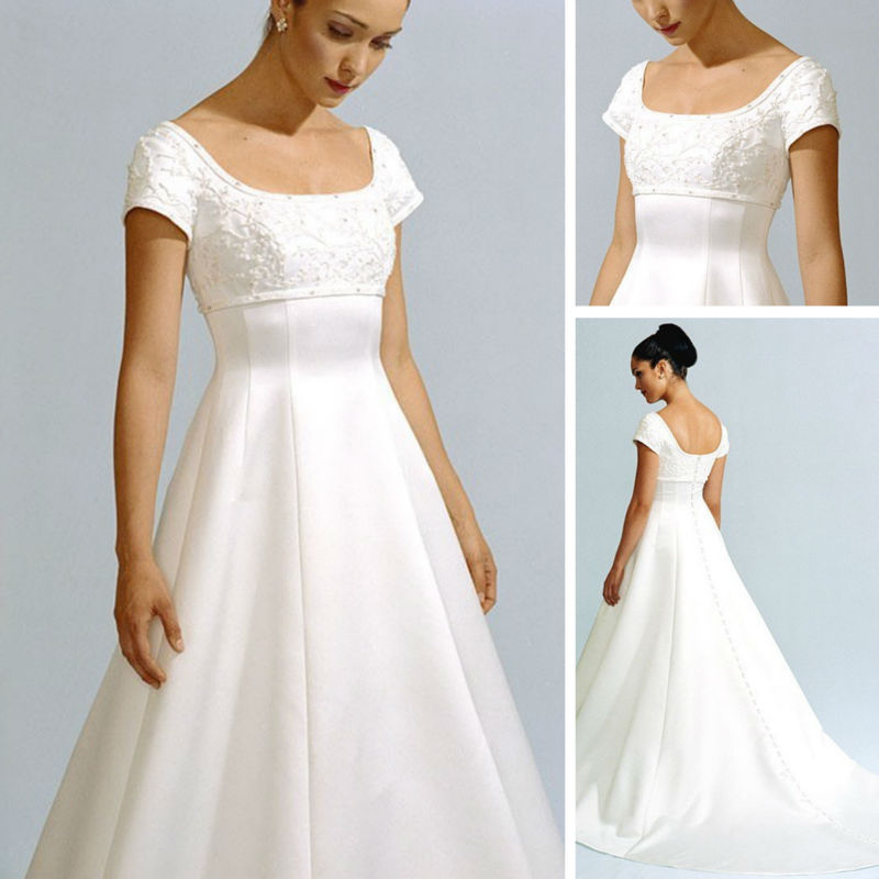 Perfect Belicia Couture Tulle Maternity Wedding Dress V Neckline Appliques Short Sleeves Bridal Gown For ...
