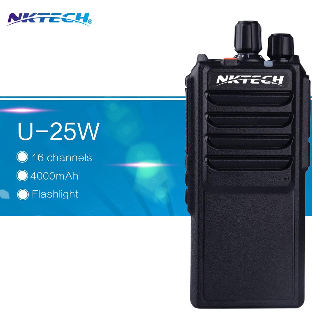 NKTECH 25W Walkie talkie NK-U25 High Power output Leixen Note UHF400-480MHZ Ham radio Long range 16 Channel 4000MAH battery(China (Mainland))