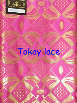 Free shipping!African sego headtie with good quality and different colors,2 PCS/bag,5 bags/lot,fuchsia pink+gold,HT0086