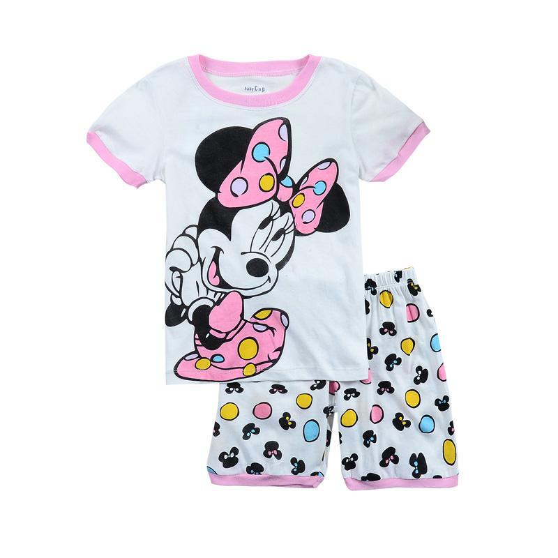 Baby Girl Clothes Cute Mini Print Cartoon Summer Clothes